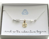 Graduation Gift • Arrow and Compass Necklace • Traveler Gift • Adventure • College Graduation • Big Journey • Compass Rose