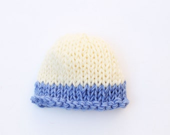 Newborn hat, blue, baby boy hat, baby hat, newborn boy hat, baby boy, coming home outfit, knit baby hat, baby boy newborn