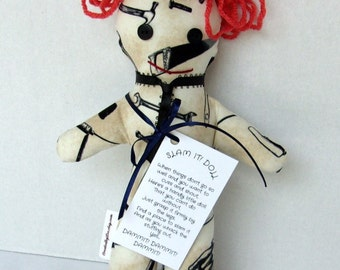SLAM-IT WHAMMIT Dang It Dammit Stress Relief Doll Handyman Carpenter, Mechanic