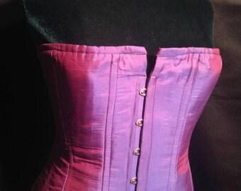 Purple Duponi Silk Steel Boned Corset size 18-20