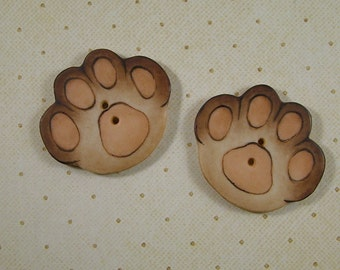 Big Paw Button set of 2
