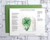 Project Four Leaf Clover - Good Luck Architecture Construction Card