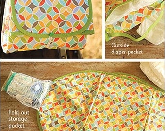 Take Along Changing Mat PDF sewing epattern - diaper changing pad pattern that folds up for easy travel & storage