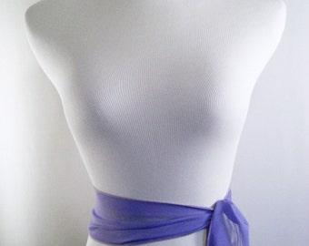 Wedding Sash - Violet Purple Chiffon Sash - Long Sash Belt Tie - Color Discontinued - Squared Ends