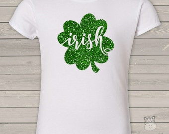 St. Patrick's Day sparkly Irish Girls Cut Tee - perfect for St. Patrick's Day festivities