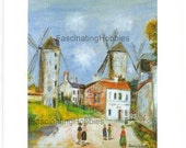"""Paris 1996 - UTRILLO, VALADON.... - Leaflet cardboard for opening of exhibition in MONTMARTRE Museum """" in a Marvellous Garden"""" -october 1996"""