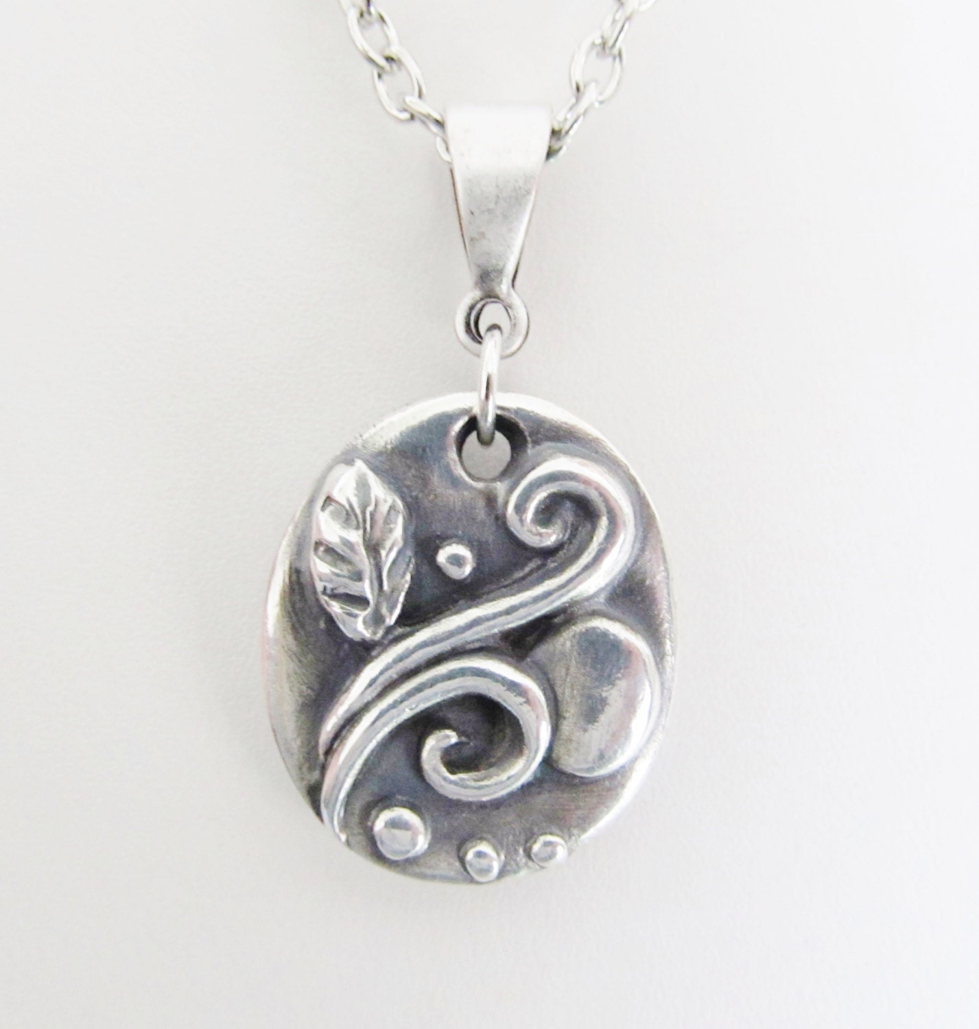 Handcrafted fine silver pendant necklace 999 silver jewelry for Fine silver 999 jewelry