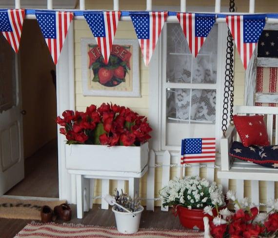 Miniature Shabby Style Flower Planter-=Dollhouse Miniature 1:12 Scale