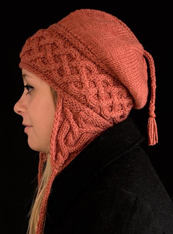 Kolmen Earflap Hat Knitting Pattern PDF