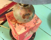 Floral Decor, Desk Lamp, Cottage Chic, Nursery Decor, Floral Lamp, Home Decor, Pink and Blue Nursery, Lighting, Desk Lamp Wood, Painted Lamp