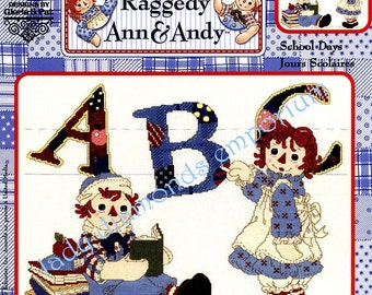 Cross Stitch Kit, Raggedy Ann and Andy School Days Designs by Gloria & Pat, Child's Decor, Bran New