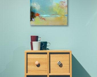 Abstract Landscape Canvas Print, Small Giclee Print, Fine Art Print, Modern Art, Summer Art, Abstract Print, Landscape Print