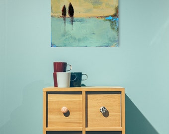 Abstract Landscape Canvas Print, Giclee Print, Fine Art Print, Landscape Art, Trees, Modern Art, Summer Art, Abstract Print, Landscape Print
