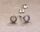 Celtic Knot Earrings ~ Braided Silver Wreaths ~ Sterling Silver Post Stud Earrings