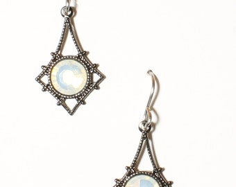 Opal  Swarovski earrings