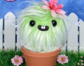 Cuddy Cactus plush potted plant with flower