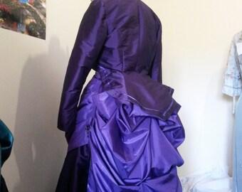 Victorian Taffeta Bolero Jacket, Steampunk Bolero Jacket, Custom Bolero Jacket