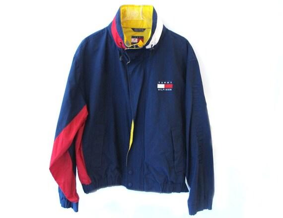 90s Tommy Hilfiger Windbreaker Rain Jacket Coat By Kokorokoko