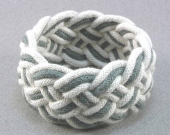 grey rope bracelet turks head knot sailor bracelet armband nautical bracelet 2144