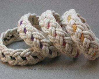 four part rope bracelets with color interweave cotton bracelet turks head knot rope bracelets with color accent  3514