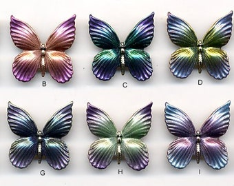 Butterfly Button Embellishment - Hand Painted - for Quilting, Crafters, Scrapbook, Needlecraft, Jewelry - Item #115