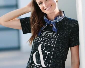Coffee & Cuddles Women's Short Sleeve Women's Graphic Tee Shirt