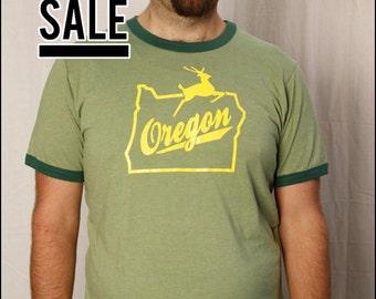 10 DOLLAR SALE-- Oregon Stag Men's Ringer shirt