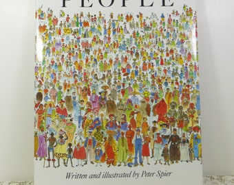 People by Peter Spier, Discovery Toys Edition Doubleday & Co, Honor Diversity