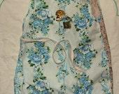 SALE 50% OFF vintage flowers wrap dress