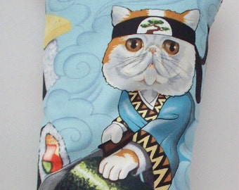 Catnip Pillow Wrestler - Sushi Roll Chef Cat Toy