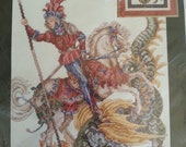 Counted Cross Stitch Kit 125144 Janlynn 125144 St. George and the Dragon Design by : Donna Vermillion Giampa (c) 1995 Made in USA
