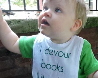 I Devour Books, Literally Bib