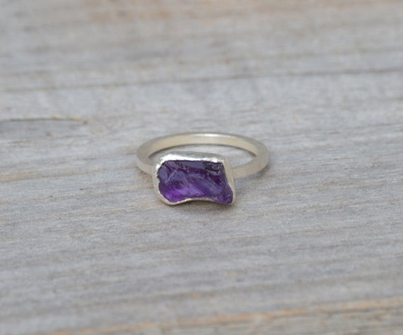 unique amethyst ring in indigo february birthstone
