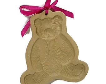 1984 Vintage Teddy Bear Mold Brown Bag Cookie Art Food Craft Supplies Gifts Under Ten Retro Kitchen Collectible PeachyChicBoutique on Etsy
