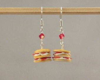 Miniature Strawberry Shortcake Earrings