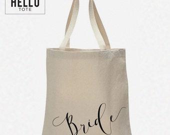 Bride Tote Bag | Order 1 or More | Bride, Engagement, Wedding Planning Gift