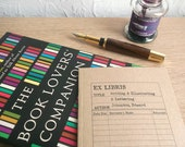 Library Card Journal - Writing, Illuminating & Lettering | Recycled A6 Writing Book | Bookish Gift for Book Lover, Writer, Librarian, Office