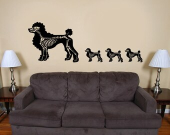 Poodles of the Dead Vinyl Decal Art-Custom color and finish