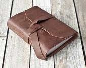 Rustic Leather Journal, Travel Sketchbook