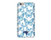 Monogrammed iPhone 6s / iPhone 6 / iPhone 5 Case - Butterfly 1 Pattern