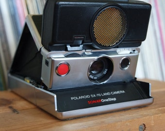 1970's Polaroid SX-70 Sonar Onestep Camera with Original Box and Instructions - Film-Tested & Working!
