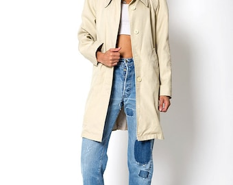 The Vintage Beige London Fog Canvas Cotton Trench