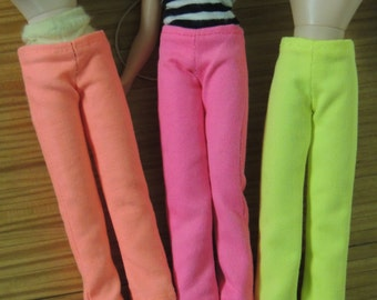 Slim Neon Fluorescent Pants for Blythe, Pink Orange Yellow