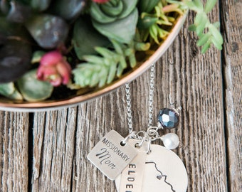 Missionary Mom Necklace, Called to Serve Necklace, Missionary Mom, Handstamped Sterling Silver Jewelry, Missionary Jewelry