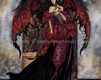 FAIRY PRINT 8.5x11 Gothic by Amy Brown