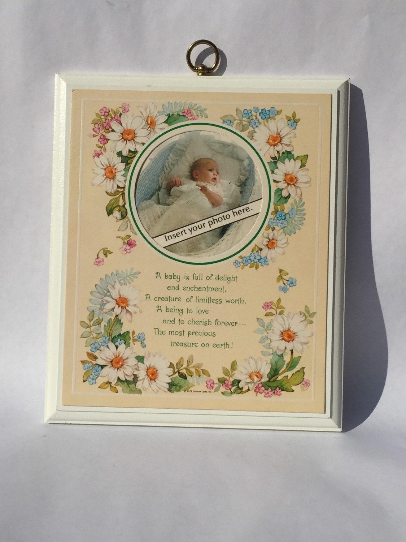 Baby Gift Name Plaque : Vintage baby photo plaque hallmark new gift