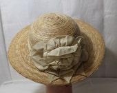 Vintage Flirty Summer Straw Hat