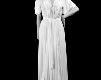 1939 - Silk Jersey Draped Old Hollywood Wedding Dress  - Made to Order - FREE SHIPPING WORLDWIDE