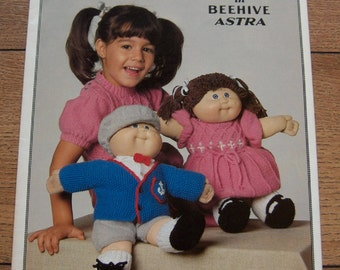 Vintage  1984 Knitting Pattern Cabbage Patch Doll Clothes - All Dressed Up
