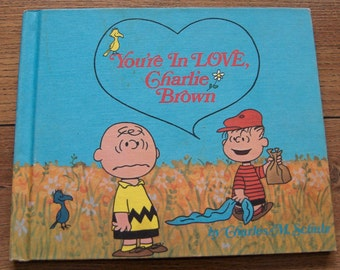 vintage 1968 1st edition book hc You're In Love, Charlie Brown  SCHULZ